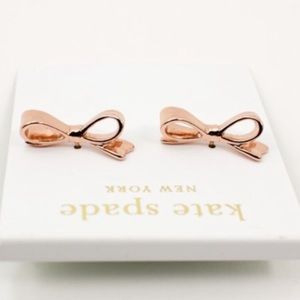 Kate Spade Rose gold earrings with gold studs